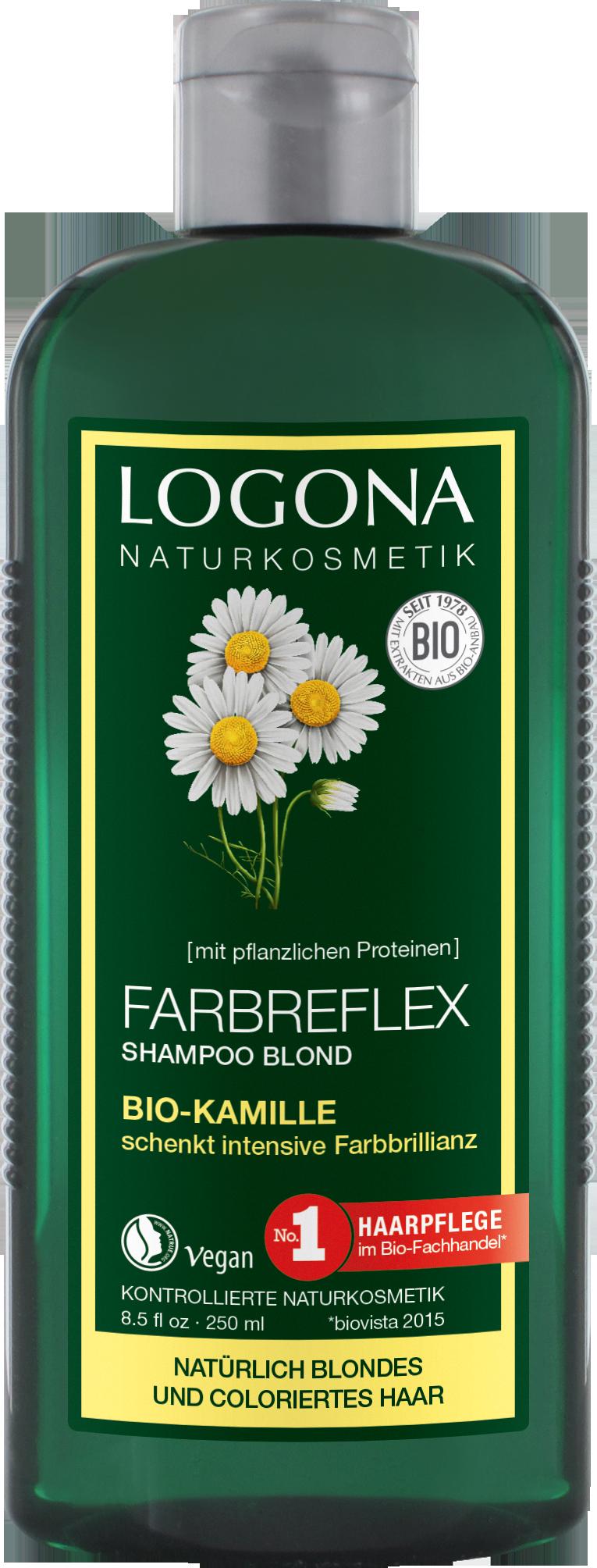 farbreflex shampoo blond bio kamille logona naturkosmetik. Black Bedroom Furniture Sets. Home Design Ideas