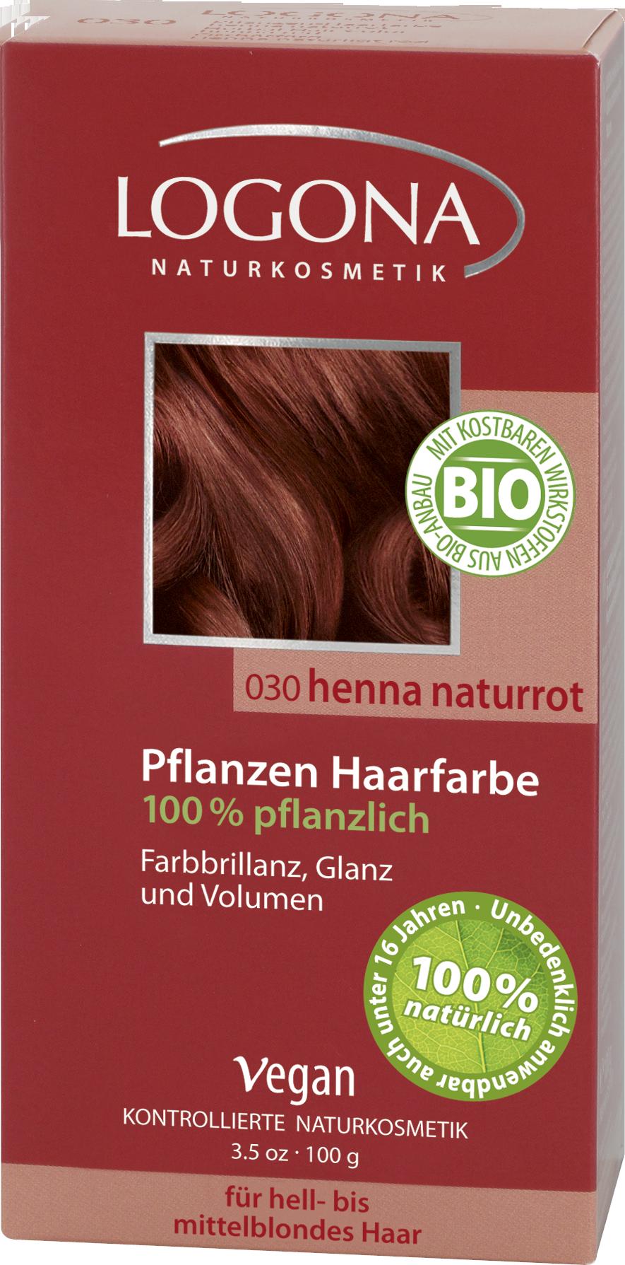 Herbal Hair Colour Powder Henna Natural Red Logona Naturkosmetik